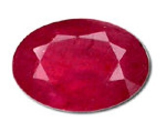 5 Carat Oval Ruby Promotional Grade