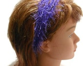 Stretchy Headband in Fuzzy in Purple