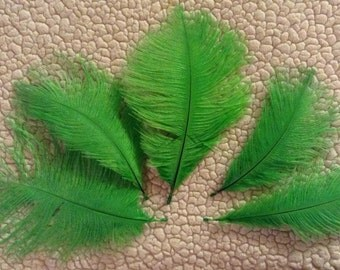 Neon Green Ostrich Feathers - 3 Feathers