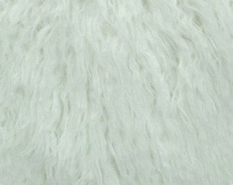 Mongolian Curly White Faux Fur 18x30 Photography Prop