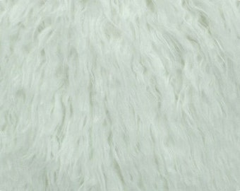 Mongolian Curly White Faux Fur 36x60 Photography Prop