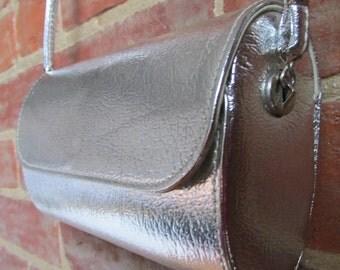 Vintage Silvertone Evening Shoulder Bag Purse