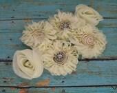 Artificial Flowers - Jolees Boutique - Large Cream Cluster Flowers - Artificial Flowers