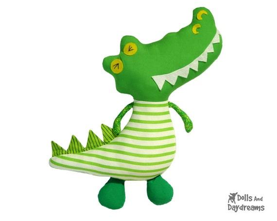 Stuffed Animal Pattern Of Alligator Cute Free Stuffed Animals