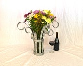 "CENTERPIECE - ""Zomaya"" - Wine Barrel Ring Tabletop Flower holder  - 100% recycled"