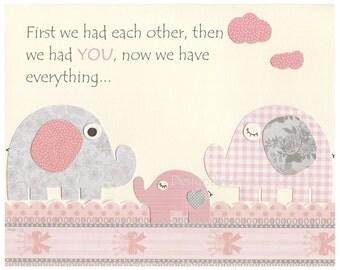 Baby Girl Nursery Wall Art, Baby Girl Nursery Decor, Nursery wall art for Girl Room Decor  // Pink and Gray // Nursery Prints
