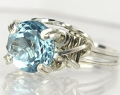 Icy Sky Blue Topaz Sterling Silver Ring