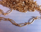 NEW Couture Style High Quality Large link brushed Matte Gold 17.5 x 6 elongated oval link chain