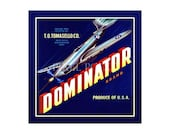 Small Journal - Dominator Brand  - Fruit Crate Art Print Cover
