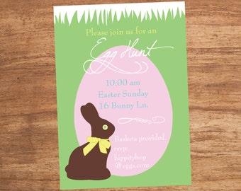 Easter Egg Hunt Party Custom Invitation