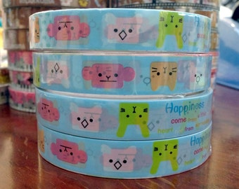 Upside down anmals San-x deco tape stickers 15mm DT440