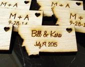 75 Montana State Wedding Favors Custom Engraved