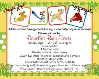 Lion King Baby Shower Invitation
