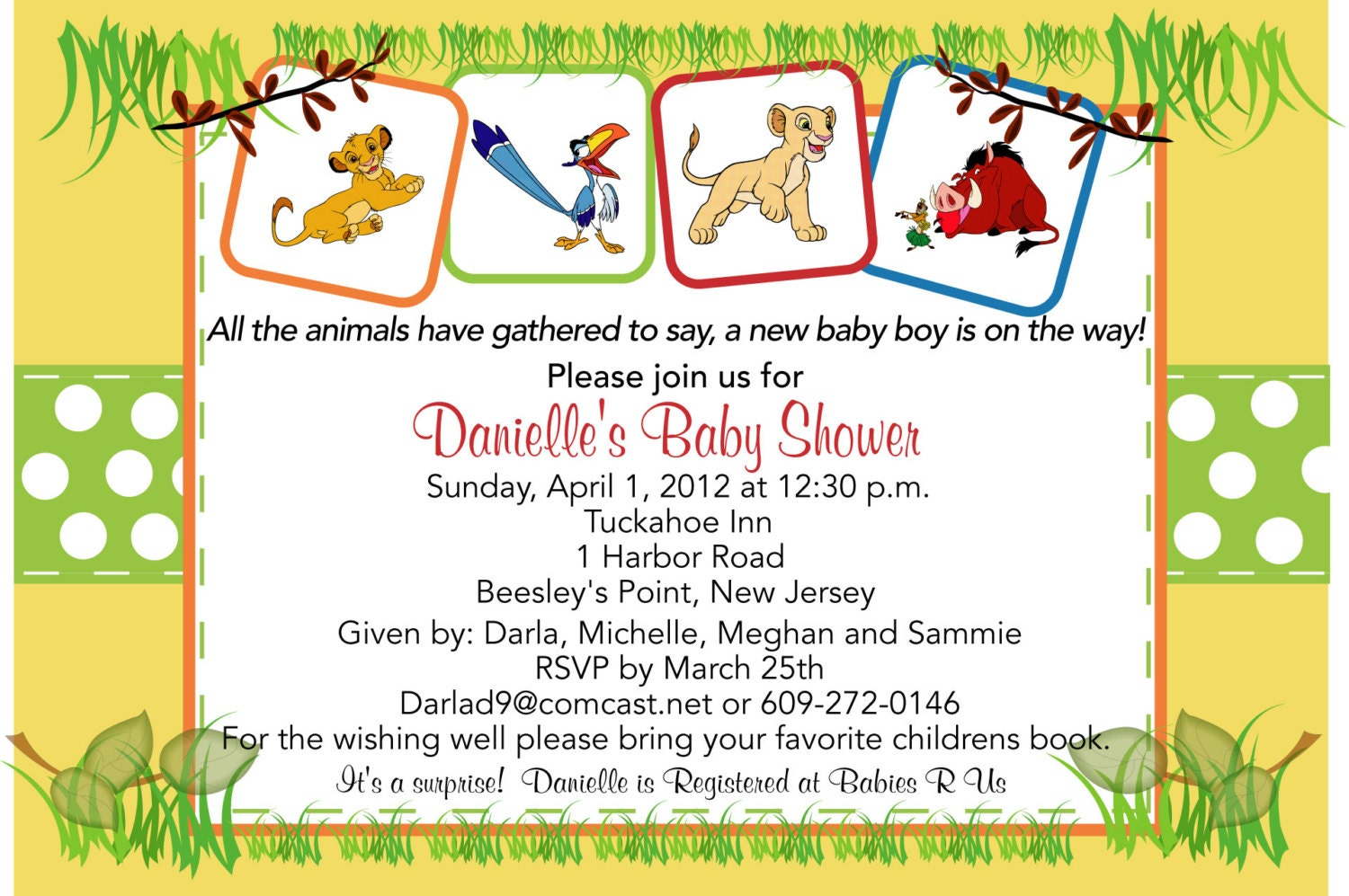 Lion king baby shower Etsy