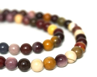 Moukaite Jasper beads 6mm round Mookaite, natural colorful gemstone, full & half strands available (717S)