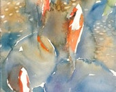 Koi Fish No.9, limited edition of 50 fine art giclee prints form my original watercolor