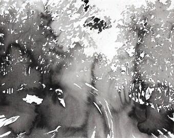 Grid series No.8 Spring Drive, 7 of  9, original sumie
