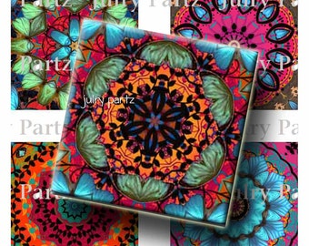 SALE TAPESTRY Healing Mandalas, 2x2 Square Tile,Printable Digital Images, Cards, Gift Tags, magnets, Yoga, Meditation