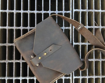 Broome mini handbag / mini saddle bag / small leather satchel / saddle bag purses / cross body purse / mini iPad satchel