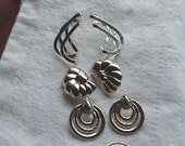 Silver Plated Set of THREE Pair of Earrings by Avon