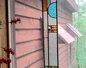 Elegant Stained Glass Panel glass art suncatcher art glass window treatment home decor