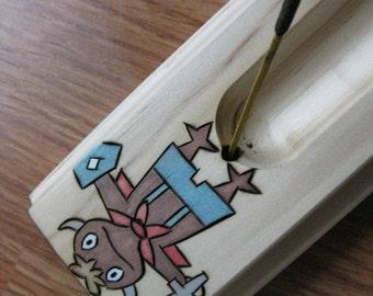 Mitey Ni no Kuni incense burner made from pine wood