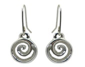 Koru Drop Sterling Silver Earrings
