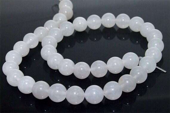 170beads White Jade  Gemstone  Beads