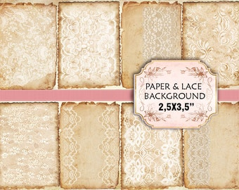 Old paper Lace Vintage Backgrounds Shabby chic paper Scrapbook Decoupage (368)