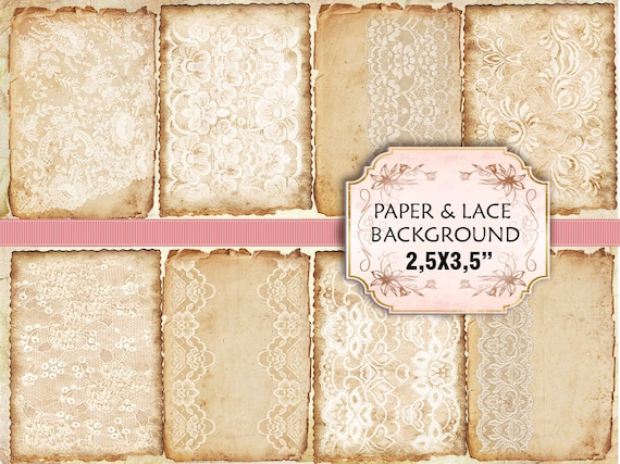 items similar to old paper lace vintage backgrounds shabby