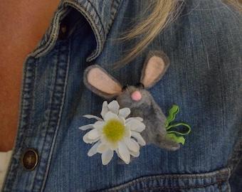 Bunny Finger Puppet/Bunny Brooch