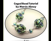 Beadweaving Tutorial Beaded Beads Handmade Beads Beadwoven Instructions Lessons Instant Download PDF DIY Jewelry Making