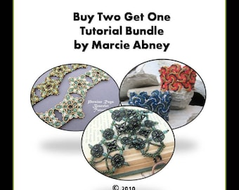 Buy 2 Get 1 FREE Bracelets - Beadweaving Tutorial Bundle