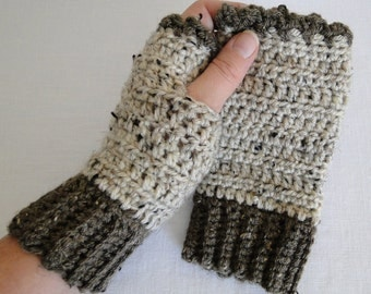 Crochet Coco Wrist Warmers, Fingerless Gloves for adults and teens