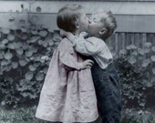 Vintage Photo, photograph, digital download, Kissing