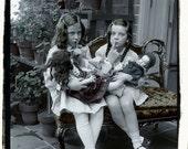 Vintage Photo, digital download, Quiet Dolls Sleeping