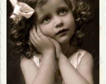 Vintage Photo,Precious girl, digital instant download