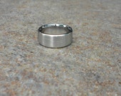 Stainless Steel Ring in Brushed Satin Finish, Stainless Rings, Artisan Jewelry