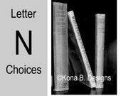 Letter N  -  Alphabet Photography  -  4x6 Photo Letter -  Unframed - Black and White or Sepia