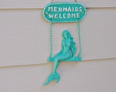 Beach Welcome Sign and Wall Decor - Mermaid Welcome Sign