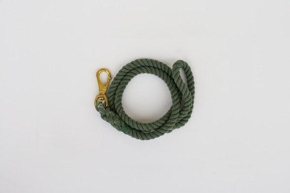 SALE Dog Rope Leash: Hunter Green, Large