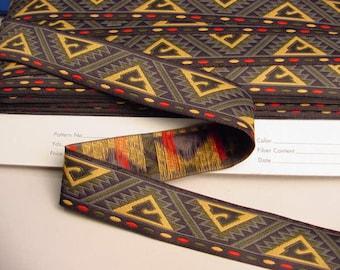 African Ribbon Wholesale Deep Pyramid Print Jacquard