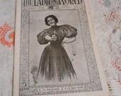 Nov 1897 EDWARDIAN LADIES Magazine, Pristine Womens Life Home Decor Fashion Needlework Children Poetry Christmas, Downton Abbey Era Illus
