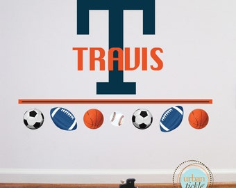 Sports Balls Decals, Sports Balls, Reusable, Nursery decor, Girls and Boys, Art for playrooms, Boys Rooms