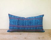 """Tribal Tradition Design Ethnic Style Hand Print Cushion Chic Pillow Cover 12"""" x 22 Same Fabric Front And Back"""