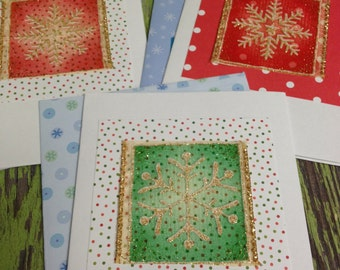Snowflake  Blank Christmas Cards-8 Count