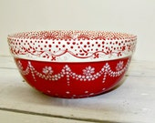 Red and White and Lovely all Over....Reserved Listing for Jennifer...Custom Order