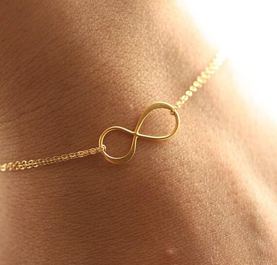 Infinity Bracelet, Dainty Bracelet, Everyday Bracelet, Gold Filled, Charm Bracelet, Bridesmaids Bracelet, Delicate Bracelet, Gift for Her