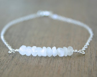 Moonlight Bracelet / Sterling Silver everyday delicate modern jewelry