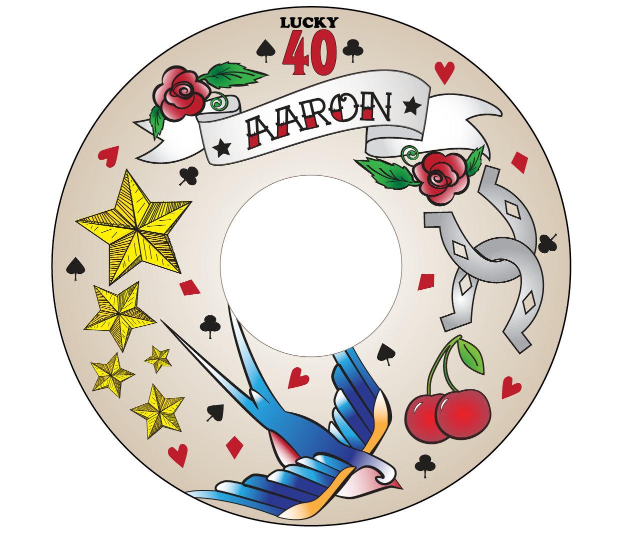Custom Printable CD Label Rockabilly Tattoo Hipster